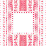 Embroidery frame in folk style Royalty Free Stock Photography