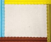 Embroidery frame. Zipper  around cloth as square frame Stock Photos