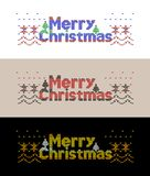Merry Christmas ornament decorations. royalty free illustration