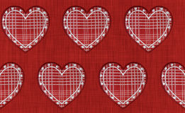 Embroidery hearts seamless Stock Image