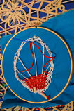 Embroidery Hoop Hot Air Balloon Stock Photo