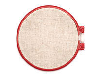 The embroidery hoop is on the white background Stock Photo