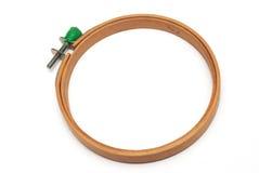 Embroidery hoop wood Stock Photo