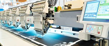 Embroidery industrial machine Royalty Free Stock Images