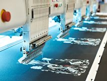 Embroidery industrial machine Stock Photos