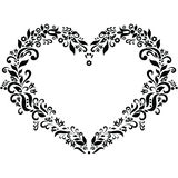 The Embroidery Inspired Heart Shape Royalty Free Stock Image