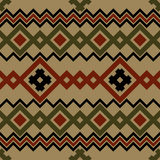 Embroidery or knit pagan slavic estonian skandinavian norwegian russian ukrainian tribal ethnic folk seamless pattern Stock Photo