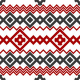 Embroidery or knit pagan slavic tribal ethnic seamless pattern.  Stock Photo