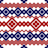 Embroidery or knit pagan slavic tribal ethnic seamless pattern Royalty Free Stock Images