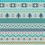 Embroidery or knit russian and ukrainian national seamless pattern. Stock Image
