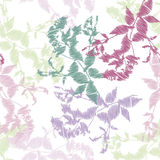 Embroidery, leaves on white background. Vector Stock Photo