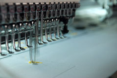 Embroidery machine stock image