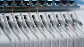 Embroidery Machine Work stock footage