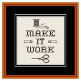 Embroidery, Make It Work Fashion Sewing Frame Royalty Free Stock Photos