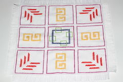 Embroidery. With multi-colored pattern Royalty Free Stock Images