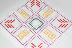 Embroidery. With multi-colored pattern Royalty Free Stock Image