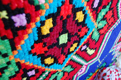 Embroidery, ornament in Ukrainian ethnic style of the old fabric royalty free stock images
