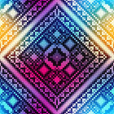 Embroidery pattern on blurred background Royalty Free Stock Photography