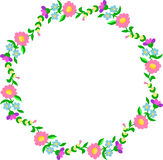 Embroidery pattern, circular border. Traditional Hungarian embroidery pattern, circular border shape stock illustration
