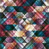 Embroidery pattern on geometric background Royalty Free Stock Image
