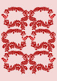 Embroidery pattern 4. Seamless traditional Hungarian embroidery pattern with leaves and birds stock illustration