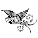 Embroidery pattern swallow Royalty Free Stock Image