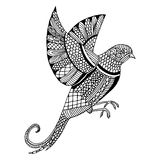 Embroidery pattern swallow Stock Photography