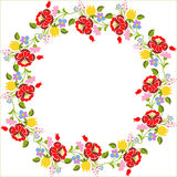 Embroidery pattern. Traditional Hungarian embroidery pattern as a page border stock illustration
