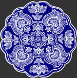 Embroidery pattern 2. Traditional Hungarian embroidery pattern on a blue background stock illustration
