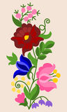 Embroidery pattern 6. Traditional Hungarian embroidery pattern from the region of Kalocsa stock illustration