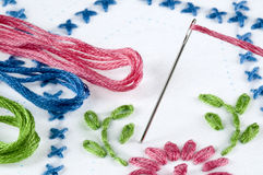 Embroidery Project Stock Photo