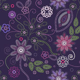 Embroidery seamless. Decorative floral embroidery seamless background Royalty Free Stock Images