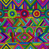 Embroidery - seamless ornament. Colored lines   Royalty Free Stock Photography
