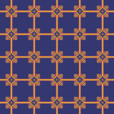 Embroidery seamless pattern on a dark blue background Stock Images