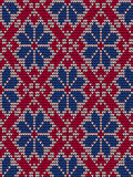 Embroidery seamless pattern in scandinavian style Royalty Free Stock Photography