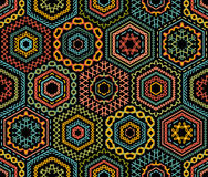 Embroidery seamless pattern. Stock Photo