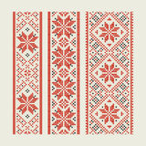 Embroidery. Set of ethnic patterns - an embroidery. A vector royalty free illustration