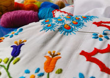 Embroidery Sewing Project Stock Photo