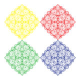Embroidery square pattern design Royalty Free Stock Image