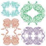 Embroidery square pattern design Stock Image