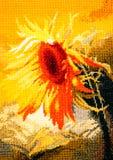 Embroidery sunflower stock illustration