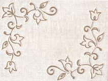 Embroidery textile background. Stock Photography