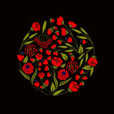 Embroidery on textiles Royalty Free Stock Image