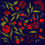 Embroidery on textiles Royalty Free Stock Photo