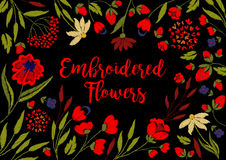 Embroidery on textiles Royalty Free Stock Photography