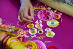 The embroidery. On the 11th China(Shenzhen) International Cultural Industries Fair 2015/05/14-18 Stock Photos