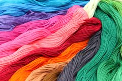 Embroidery thread. A lot of thread for embroidery Royalty Free Stock Image