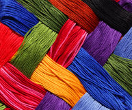 Embroidery Thread Background stock photography
