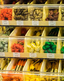Embroidery thread colors and textures Royalty Free Stock Photography