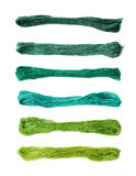 Embroidery thread yarn isolated Royalty Free Stock Images